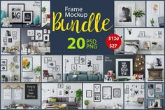 Frame Mockup Bundle Vol 1 by Yuri-U on @creativemarket