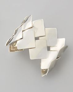 Woven Sterling Silver Cuff by Dina Mackney at Neiman Marcus.