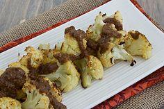 Roasted Cauliflower with Cashew Raisin Vinaigrette