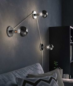Fixed Metal Wall Light for Single Lamp