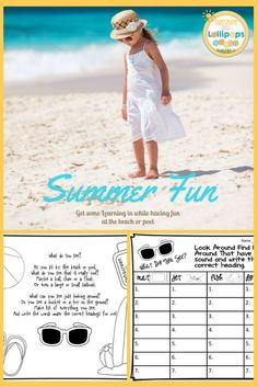 "It's time for Summer Fun, lazy hazy days, barefoot romps on the beach and cooling off in the pool. Are you wondering how you might get in a little learning to prevent the ""Summer Slide?""  I always worried about this so I decided to share this resource that was created and designed to complete on the beach or by the pool! I wish I had thought of this 30 years ago! So grab your beach and pool gear and add this to your bag! $1.00"