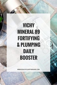 Vichy Mineral 89 Fortifying And Plumping Daily Booster has a lightweight gel-like texture that deeply hydrates skin, leaving it softer, smoother and plumper even in the coldest weather. Click through for the full review. #skincare #booster #dryskin #winterskincare