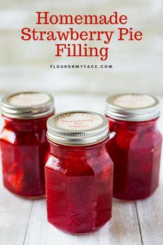 Fresh Florida Strawberries for Homemade Strawberry Pie Filling recipe Canned Strawberry Pie Filling Recipe, Strawberry Recipes, Fruit Recipes, Pie Recipes, Dessert Recipes, Raspberry Filling, Recipies, Canned Strawberries, Home Canning Recipes