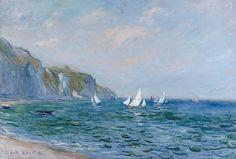 Falaises et voiliers à Pourville (C Monet - W 785),1882.