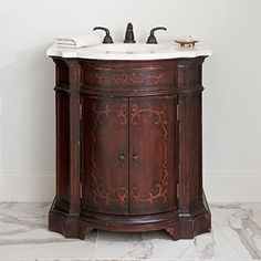 Ambella Home Collection - Arianna Petite Sink Chest - 04590-110-101