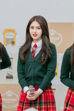 Jeon Somi, Fan Fiction, School Uniform Outfits, Kim Sejeong, Kpop Outfits, School Fashion, South Korean Girls, Asian Woman, Girl Photos