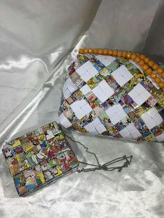 Accessory moda fashion candy wrapper  bags handmade by mariella di miceli