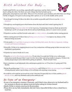 Pregnant? Need a custom birth plan? Print it for free. | Pregnancy ...