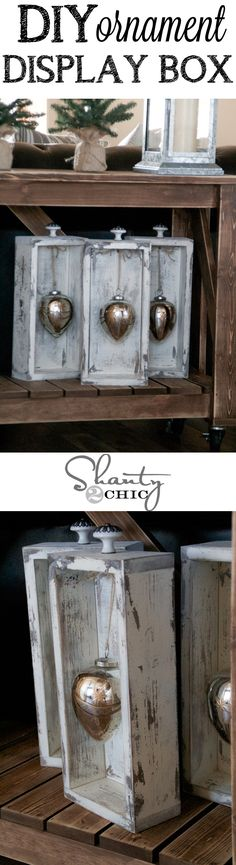 Cute way to display your ornaments! Use an old set of drawers or build your own…