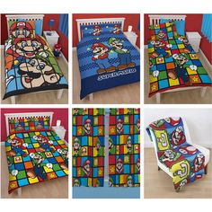 Super Mario Bros Bedroom Items and Bedding - Duvet Covers