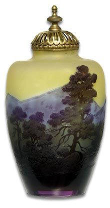 The colours of the vase/jar has a very neat gradation from dark colours rising to lighter colours.