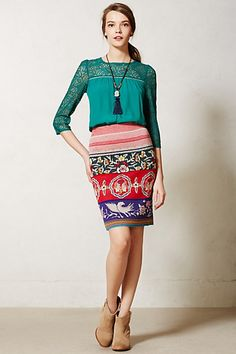 Fun colorful outfit! #anthropologie