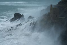 The Atlantic Ocean rages at Botallack, North Cornwall, Duncan George