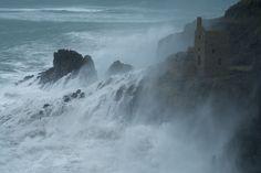 The Atlantic Ocean rages at Botallack, North Cornwall, Duncan George
