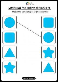 Kindergarten Math Worksheets, Worksheets For Kids, Preschool Activities, Maths, Shape Tracing Worksheets, 3rd Grade Spelling, Prewriting Skills, Shape Matching, Pre Writing