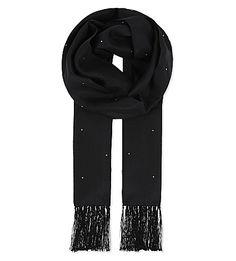 HARDY AMIES Diamond Dot Silk Evening Scarf. #hardyamies #scarves
