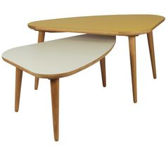 OVAL COFFEE TABLE  Come in various coloured tops
