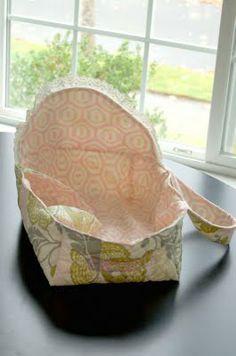 doll bassinet tutorial - http://nothingfancyschmancy.blogspot.com/2009/11/baby-doll-bassinet-tutorial.html