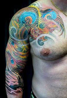 Sleeve Phoenix Guy's Tattoo Shoulder
