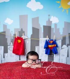 Superman newborn picture