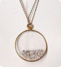 glitter pendant