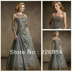 Free Shipping Best Selling Mother of the Bride Dress Custom With Jacket Plus Size Mother Of The Bride Dresses $129.00