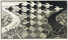 M.C. ESCHER (1898-1972) - Day and Night, 1938