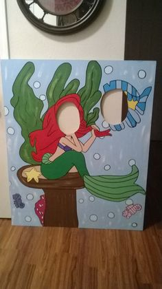 face in the hole Little Mermaid. Made by markeysha ross