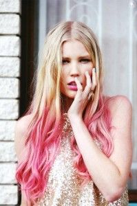 Pink ombre hairs.
