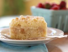 Apple Crumble Slice - it consists of a cake like base, a layer of cinnamon flavoured apple, and then finished off with a crumble topping.