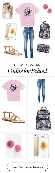 """Ughhhh school "" by raquate1232 on Polyvore featuring Philipp Plein, Jack Rogers, Vera Bradley and Moon and Lola"