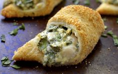 Spinach Dip Rolls Vegan One Green Planetone Green Planet - Dairy Free Spinach Dip Is Fantastic But How Do You Make It Even Better You Stuff It In A Crescent Roll Season It With Garlic And Onion Powder And Roll It In Crunchy Bread Crumbs Vegan Foods, Vegan Snacks, Vegan Dishes, Vegan Recipes, Vegan Apps, Chef Recipes, Seafood Recipes, Yummy Recipes, Vegan Appetizers