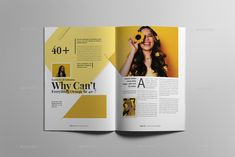 Buy Fashion Magazine by on GraphicRiver. Magazine layout design The magazine layout design is super easy to customize. This fashion magazine template contain. Magazine Page Design, Magazine Design Inspiration, Layout Inspiration, Magazine Spreads, Magazine Ads, Magazine Layouts, Magazine Covers, Contents Page Design, Editorial Design