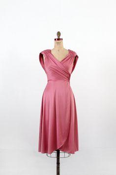 1970s Grecian Dress / Vintage Pink Disco Dress