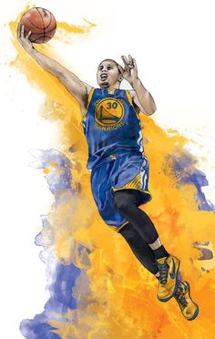 Stephen Curry of the Golden State Warriors by IllustrationsbyChris