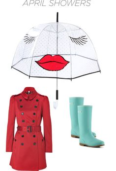 """""""April Showers Bring Out the Hip Rain Gear"""" by imelda-orbe-humphreys ❤ liked on Polyvore"""
