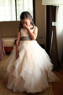 cute flowergirl dress - in a different color!