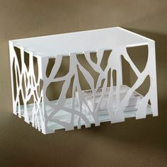 Stylish and elegant metal glass topped bedside table in white brown an at My Italian Living Ltd Wall Mounted Bedside Table, Italian Furniture, Metal Walls, Contemporary Furniture, Furniture Design, Tables, Table Lamp, Elegant, Stylish