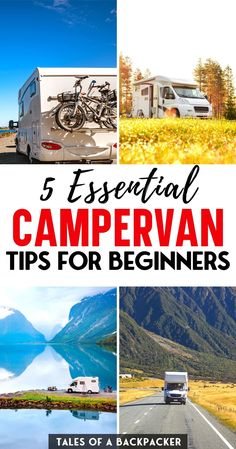 Top Tips for Campervan Beginners - Like anything in life, campervans have a learning curve, so I hope that these campervan tips will help you get a head start! | Motorhome Tips | RV Camping Tips | Van Life Tips | RV Tips | Campervan Essentials