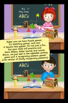 MyABC (7 in 1): Write & Learn alphabets and letter sounds ($3.99) Enjoy learning ABCs letters, letter sounds (phonetic) and picture words of A-Z sign language (ASL), animals and food, including learn how to write ABCs. There're lots of fun games to help your child learn ABCs (i.e, puzzle games, 12 matching games, 4 square face games, alphabet sorting game and 3 recognizing pattern games). **Plus, create your own ABC's word sets, images, and sounds. This app is totally customizable.