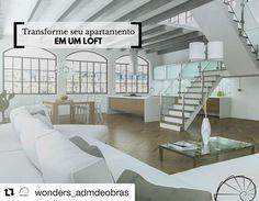 #Repost @wonders_admdeobras (@get_repost)  Os lofts vêm conquistando cada vez mais espaço entre a escolha de reformas por trazerem conforto praticidade e modernidade para ambientes pequenos. Traga mais charme e estilo para o seu loft. Conheça nossos projetos e reforme com a Wonders: www.wondersadm.com #wonders #wondersadm #wondersobras #arquiteto #arquitetura #engenharia #obras #apartamentos #casas #escritorios #loft #studio #decoracao #ambientes #organizacao #limpeza #agilidade #qualidade…