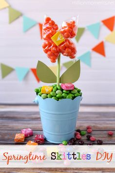 Get Ready For Springtime With A DIY Candy Flower Pot - A Million Moments