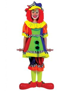 Spanky Stripes Clown Costume