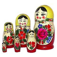 Babuschka (Matroschka bzw. Matruschka) Russin, 6-tlg.
