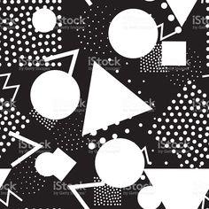 シームレスな幾何学模様で、メンフィス 80 年代のレトロなスタイル ロイヤリティフリーのイラスト素材