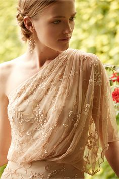Because Grecian style will never go away. And I don't want it to! Raquel Dress from BHLDN. The New Sleeve trend.