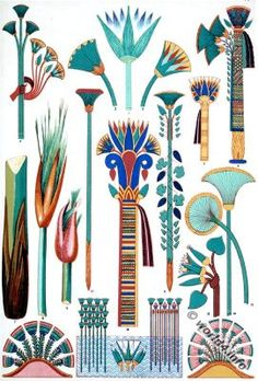 Egyptian Ornaments and Decorations.