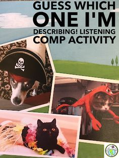 Listening Comprehension Activity for Foreign Language Class Elementary Spanish, Teaching Spanish, Elementary Schools, Preschool Spanish, Learning French For Kids, Ways Of Learning, Learning Styles, Learning Games, Learning Centers