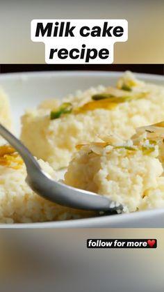 Tasty Vegetarian Recipes, Vegetarian Quotes, Healthy Recipes, Sweet Dishes Recipes, Indian Food Recipes, Tastemade Recipes, Tandoori Masala, Chaat Recipe, Milk Cake