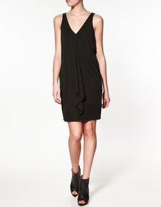 DRESS WITH FRONT PLEATS
